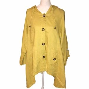 for Cynthia 100% Linen light hooded jacket